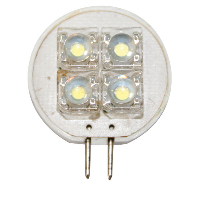 BULB 12V, LED, T25, COOL WHITE-4 PIRANHA LEDs